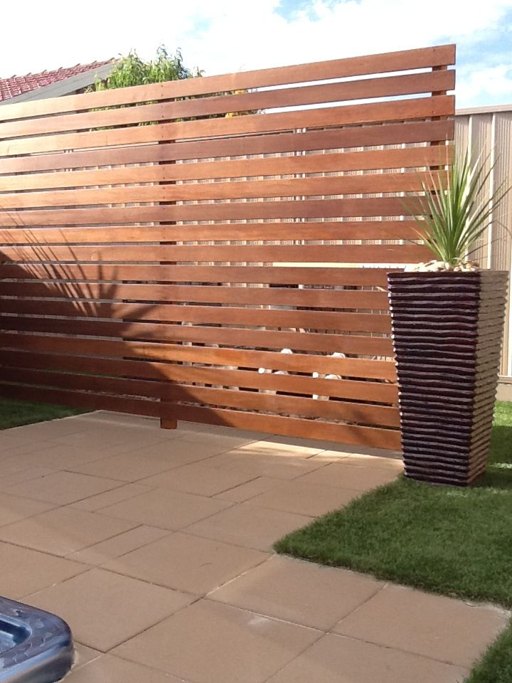Architectural Deck Screening : Merbau screening fences melbourne out deco living